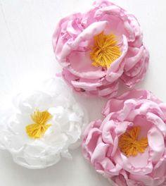 flor de tecido para decorar passo a passo