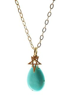 Dyed Turquoise Star Necklace by Jami Rodriguez on @HauteLook