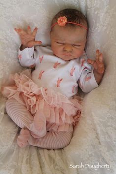 Reborn life like baby doll www.newbornlovenursery.blogapot.com Sarah Daugherty