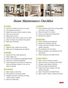 New Home Checklist, Deep Cleaning Checklist, House Cleaning Tips, Spring Cleaning, Home Maintenance Schedule, Organizing Paperwork, Organization, Organizing Ideas, Clean Washing Machine