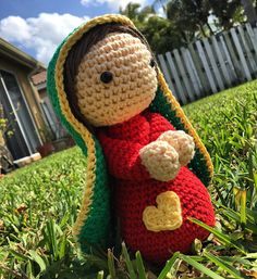 Our lady of Guadalupe doll Amigurumi Handmade Crochet doll