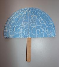 deštník (inkoust + zmizík)