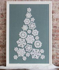 "redheartyarns: "" Tree of Snowflakes Free Crochet Pattern in Red Heart Holiday yarn "" Free crochet pattern! :) redheartyarns: "" Tree of Snowflakes Free Crochet Pattern in Red Heart Holiday yarn "" Free crochet pattern! Crochet Christmas Decorations, Crochet Christmas Trees, Crochet Ornaments, Christmas Crochet Patterns, Holiday Crochet, Crochet Snowflakes, Noel Christmas, Crochet Home, Crochet Crafts"