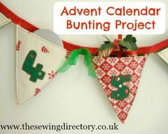 Sew up some simple Advent calendar bunting to fill with goodies! Use up scraps to sew this simple project.