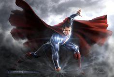 Man of Steel Concept Art by Warren Manser