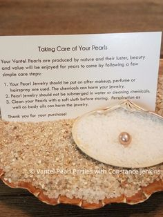 care of pearls instructions