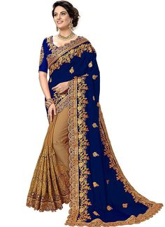 Embroidered Georgette Saree,Party Wear Saree,Saree Fabric: Georgette saree,Blouse Fabric: Heavy Satin.