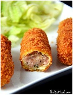 Croquetas de Jamón – Cuban Ham Croquettes - (Free Recipe below) Havanna Party, Tapas, Lemond Curd, Jai Faim, Cuban Dishes, Cuban Cuisine, Comida Latina, Latin Food, Mexican Food Recipes