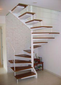 Spiral stairs loft metals interior design 41 ideas for 2019 Concrete Staircase, Staircase Design, Loft Stairs, House Stairs, Escalier Art, Stair Decor, Modern Stairs, Floating Stairs, Interior Stairs