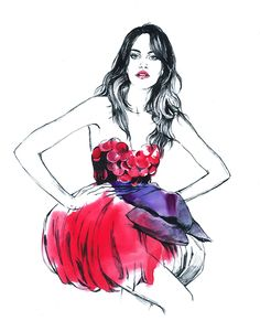 Editorial works. Fashion illustrations. Daily sketches.