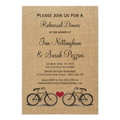 Shop Vintage Bicycle Rehearsal Dinner Invitations created by RenImasa. Dinner Invitation Template, Free Wedding Invitation Templates, Rehearsal Dinner Invitations, Rehearsal Dinners, Invitation Design, Invitation Cards, Heart Wedding Invitations, Vintage Invitations, Zazzle Invitations