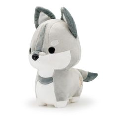 Wolf Stuffed Animal, Cute Stuffed Animals, Cute Animals, Wolf Plush, Cute Plush, Cute Toys, Plush Dolls, Diy Plush Toys, Plushies