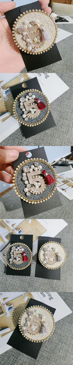 CX-Shirling Number 5 Pearl Combination Famous Luxury Brand Designer Jewelry 2017 Brooch Pins Broach For Women Sweater Dress