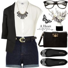 Classic black & white by matweewa-aleona on Polyvore featuring Vero Moda, River Island, Yves Saint Laurent, Vivienne Westwood, Marc by Marc Jacobs, women's clothing, women's fashion, women, female and woman