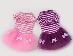 FameBeaut Hot Sale Pink & Purple Summer Lace Dress For Dog Clothes Cute Pets Dog Striped Ball Gown Dresses Roupa Pra Cachorro Lace Summer Dresses, Summer Dress Outfits, Dress Lace, Lace Skirt, Dress Skirt, Small Dog Clothes, Puppy Clothes, Princess Puppies, Dog Tutu
