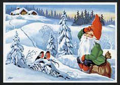 Wimo Christmas Clipart, Christmas Cards, Norwegian Christmas, Hallmark Cards, Faeries, Troll, Decoupage, Clip Art, Illustration