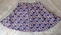A - line Cotton Short Skirt Elephant Print Blue and White Girls Clothing by ExoticFolkArt on Etsy