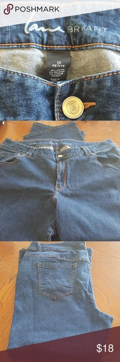 Jeans Blue Jeans. Size 22 Petite. Slim Boot.  Inseam 29 Lane Byrant Jeans Boot Cut