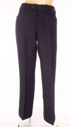 PRADA Pants Size 38 XS Extra Small Black Winter Weight Wool Trousers #PRADA #DressPants