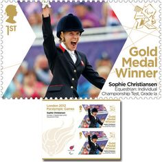 Large image of the ParalympicsGB Gold Medal Winner Miniature Sheet - Sophie Christiansen