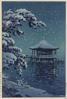Tsuchiya Koitsu, Snow at Katata, 1934