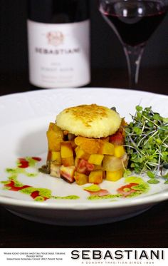 Warm Goat Cheese and Fall Vegetable Terrine Recipe. Sebastiani #SonomaTradition Contest.