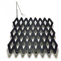 Thut scherenbett Buche schwarz lackiert mit Schwenkleuchte