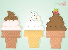Original wallpaper size of Cute ice-cream iPad wallpaper