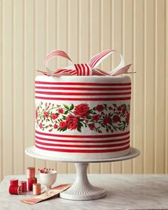 The quintessential cake extraordinaire for a Valentine-time wedding or anniversary by martha-stewart-weddings via @Hello!Lucky