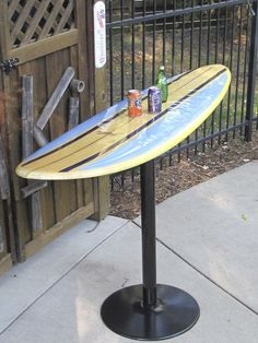 Nice Surfboard Bar Table with Best 25 Surfboard Table Ideas On Home Decor Used S. Nice Surfboard Bar Table with Best 25 Surfboard Table Ideas On Home Decor Used Surfboards Source by andrewstabnick Surfboard Table, Surfboard Decor, Surf Decor, Diy Furniture, Outdoor Furniture, Outdoor Decor, Outdoor Living, Decoration Surf, Used Surfboards