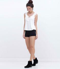 Short feminino Modelo cintura alta Marca  Blue Steel Composição  97%  algodão e 3 83bfde601d2