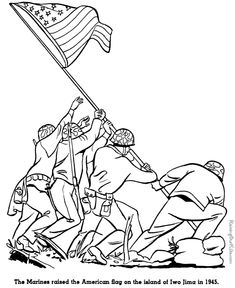 iwo jima history military coloring pages for kid