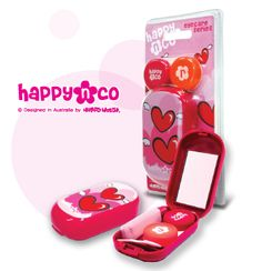 Happy N Co Contact Lens Travel Case [HAPPYNCO] - $7.99 : EYECANDYLENS.COM - Online Circle Lenses Store - Circle Lens - Colored Contacts - Color Contact Lenses - Big Eye Contact Lens - GEO - NEO Vision - Princess Mimi