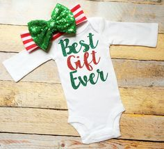 Best Gift Ever Onesie by Lilgigglescouture on Etsy