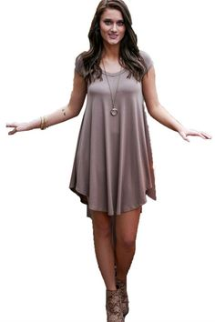 Charming Summer Casual Short Sleeve Plus Size Dress Trendy Summer Outfits cef7ab79f5c4