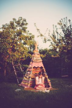 Tipi from leftover fabric by Mokkasin