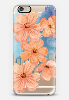 spring fever coral- transparent iPhone 6 case by Sylvia Cook   Casetify get $10 off using code: 8I2VFF