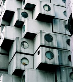 Nakagin Capsule Tower by Kisho Kurokawa.