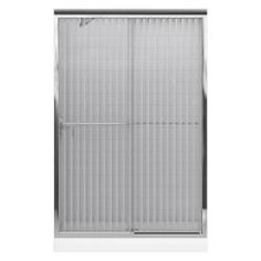 KOHLER Fluence 47-5/8 in. x 70-5/16 in. Frameless Bypass Shower Door in Silver with Opaque Glass