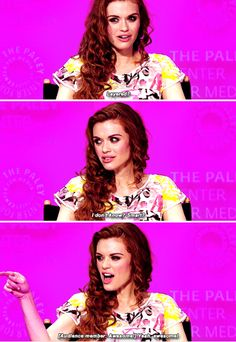 #TeenWolf cast - Holland Roden - Can you describe your character in one word?
