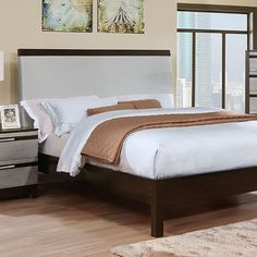 Furniture Of America Euclid Eastern King Bed CM7206EK