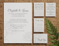 Custom Modern Silver Wedding Invitation by InvitationSnob on Etsy