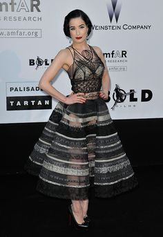 Dita Von Teese in a piece from Jean Paul Gaultier's 2009 calligraphy-inspired couture collection - flawless perfection