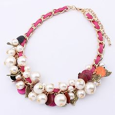 USD $ 10.99 - Vintage (Round Pendant) Multicolor Fabric Choker Necklace(Blue,Pink)(1 Pc) (buy 1 get 2 free gifts), Free Shipping On All Gadg...