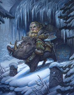 boar-rider by justin gerard