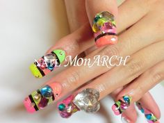 Park Bom's self-done nail art