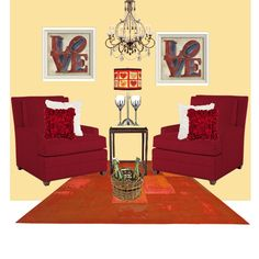 Happy Valentine's Day 2013 - by Kate - features Benjamin Moore CC214 Golden Honey wall color.