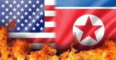 Flame on us and north korea flag. Fire flame on us and north korea flag , Rex Tillerson, Dianne Feinstein, Asia News, Us Politics, World Peace, North Korea, Flag, Korean, Crafts