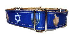 Hanukkah Dog Collar by GreatDogDesigns on Etsy
