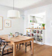 Une cuisine semi ouverte avec un passe-plat - Marie Claire Maison